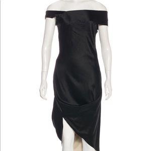 Alexander McQueen black silk dress us6